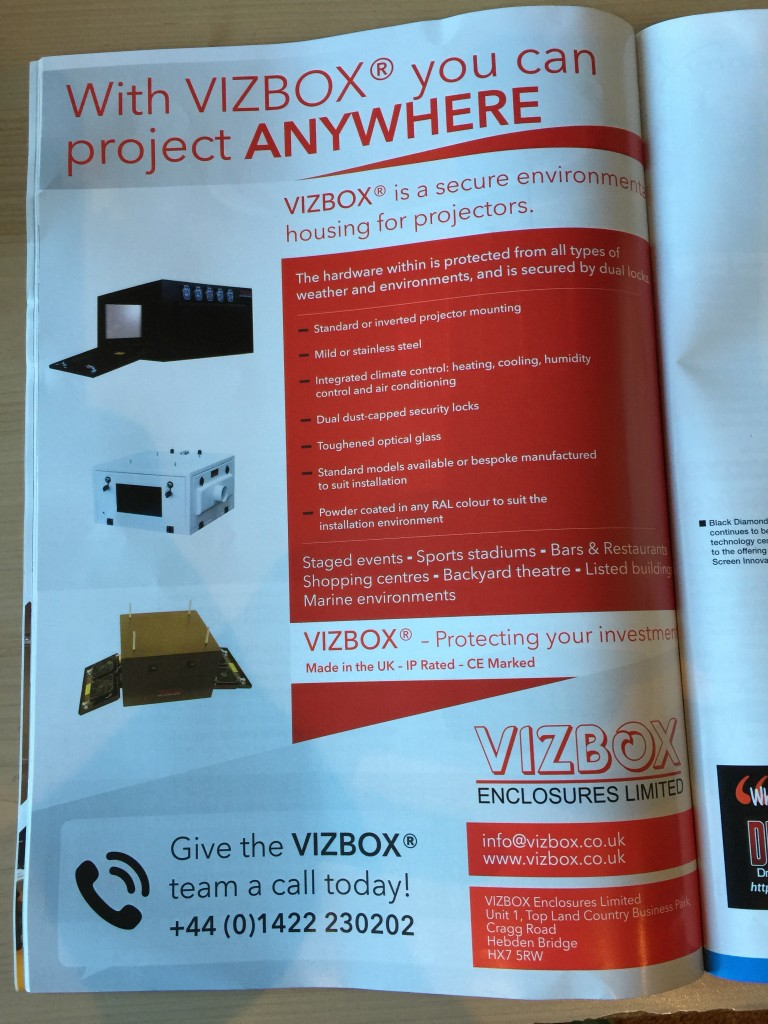 environmental projector housing advert
