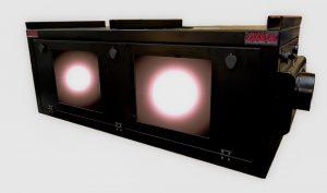 outdoor projector enclosure housing dual