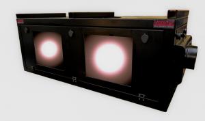 dual outdoor projector enclosure