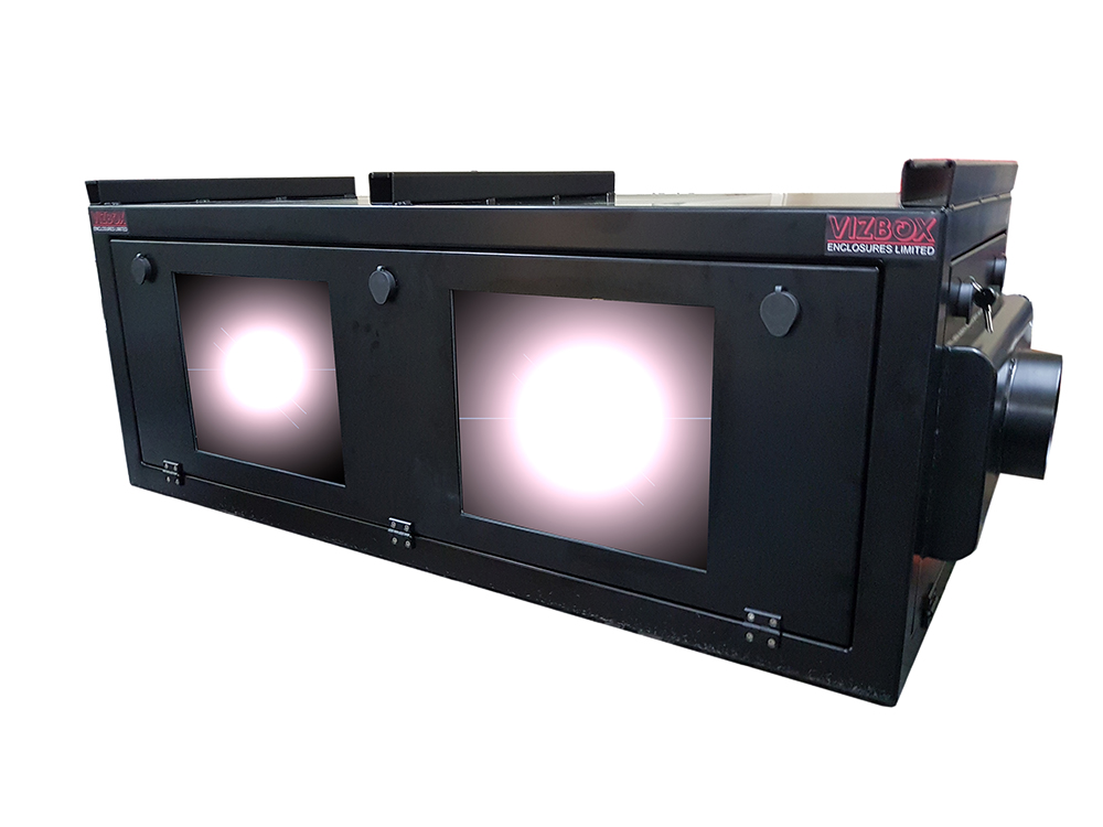 specialised dual projector enclosure