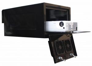 outdoor projector enclosure in black
