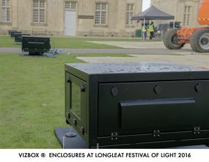 Longleat light show projector enclosures