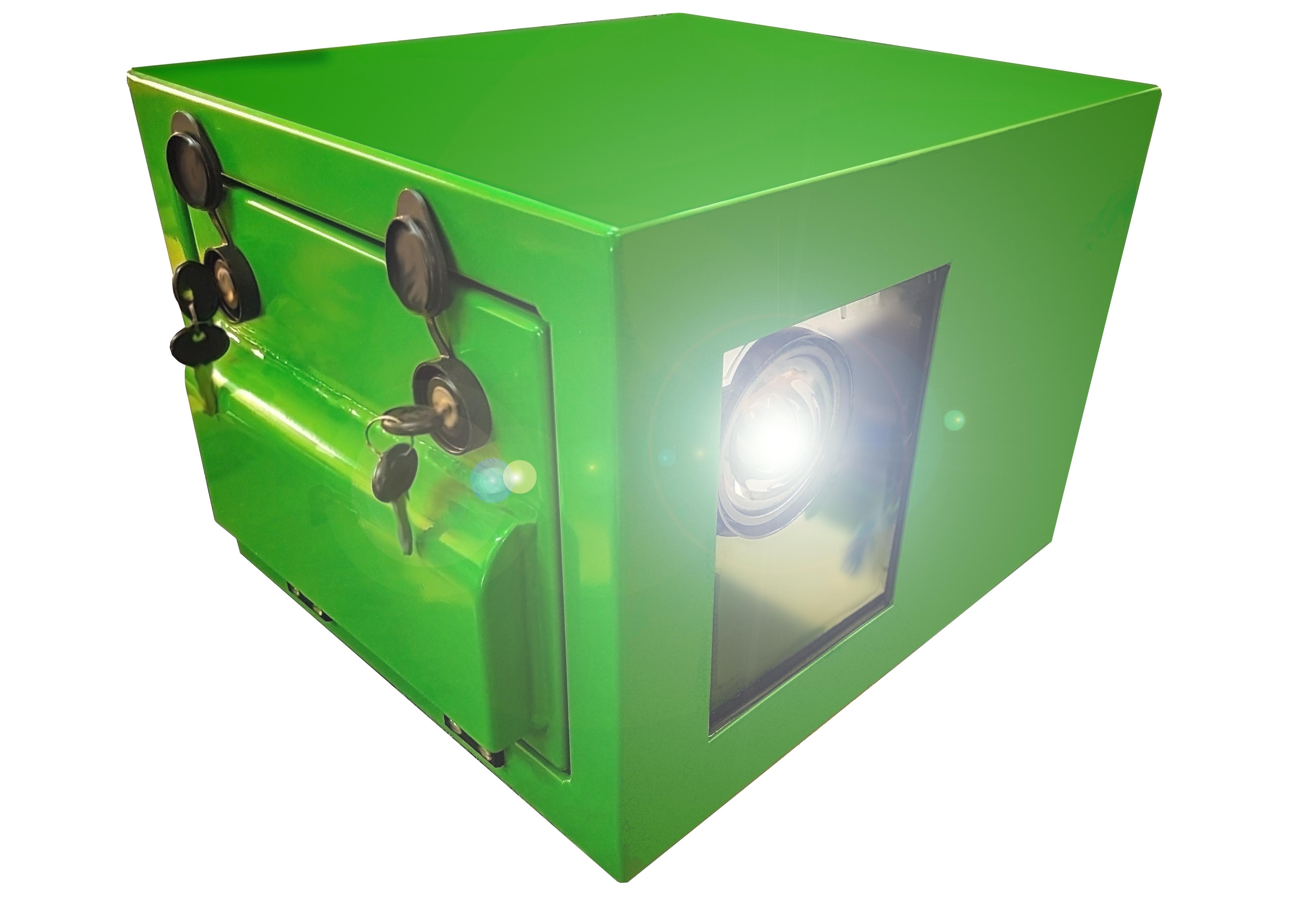 outdoor golf projector enclosure