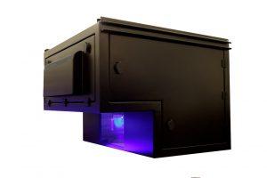 outdoor projector enclosure for periscope lens